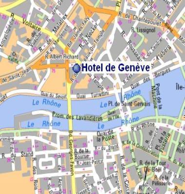 Hote de Geneve, Map