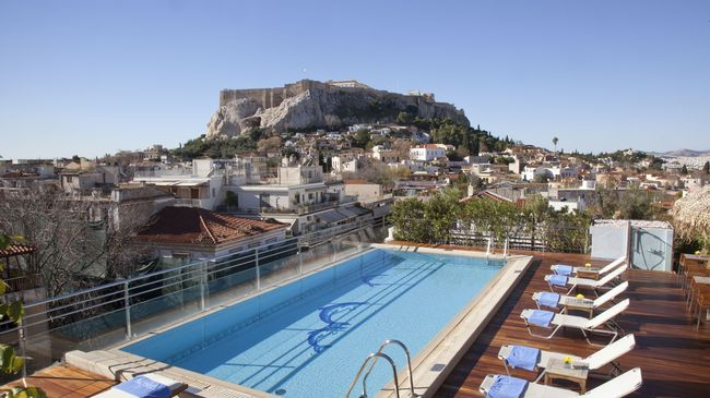 POOL VIEW TO ACROPOLIS